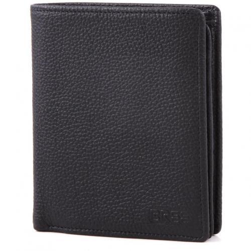 Bree Pocket 115 Geldbörse Leder schwarz 12,5 cm