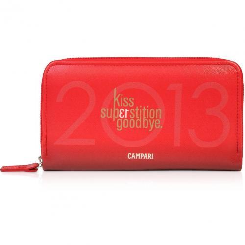 Bric's Campari limited Edition Brieftasche mit Rundumreißverschluss