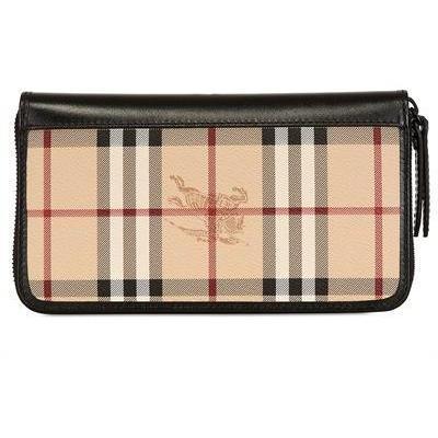 Burberry Brieftasche mit Reißverschluss Beige