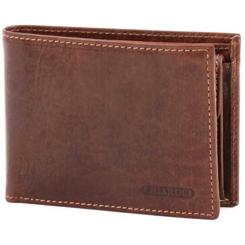 Chiarugi Classic Geldbörse Herren Leder braun 13 cm