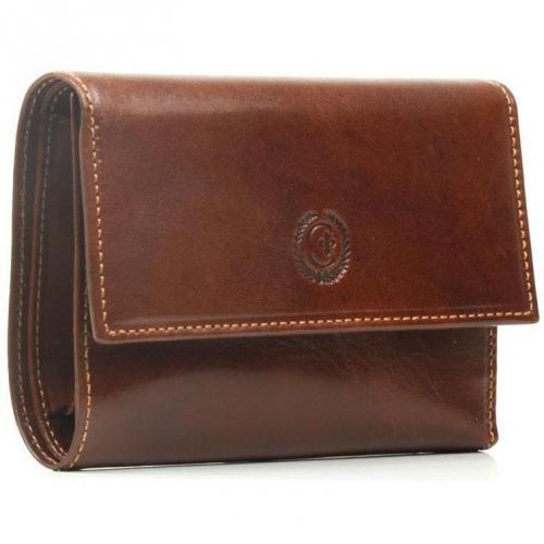 Chiarugi Geldbörse Leder braun 10,5 cm