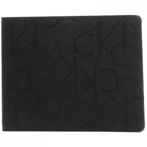 Ck Calvin Klein Geldbörse black mit Monogrammuster
