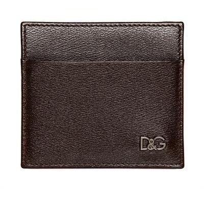 Dolce & Gabbana Kreditkartenbrieftasche aus Leder mit Logo