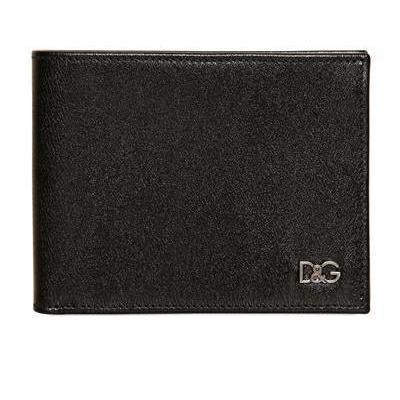 Dolce & Gabbana Lederbrieftasche mit Metalllogo