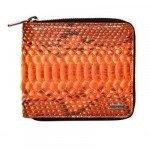 Dolce & Gabbana Pythonbrieftasche mit Rundherum-Reißverschluss