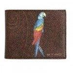 Etro Beschichtete Papageibrieftasche aus Canvas & Leder