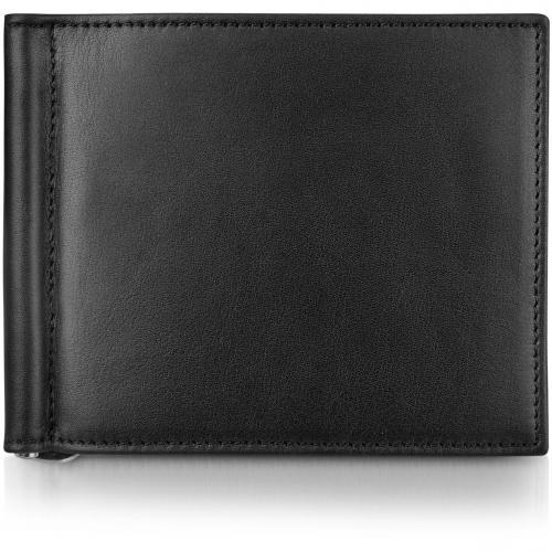 Giorgio Fedon 1919 Classica Collection Brieftasche aus schwarzem Kalbsleder