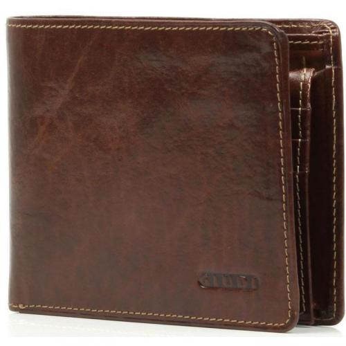 Giudi Geldbörse Leder braun 12,5 cm