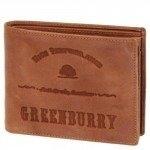 Greenburry Full Grain 12 cm Geldbörse cognac mit 6 Kartenfächern