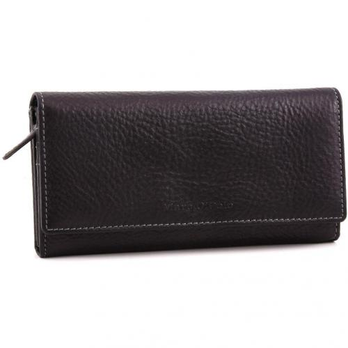 Marc O'Polo Kent Geldbörse Leder schwarz 19 cm