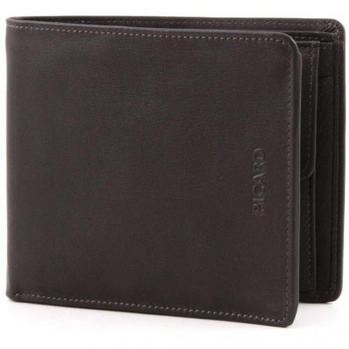 Picard Brooklyn Brieftasche dunkelbraun 12 cm