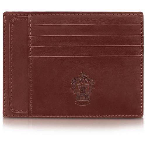 Pineider Power Elegance Kartenetui aus Leder in braun