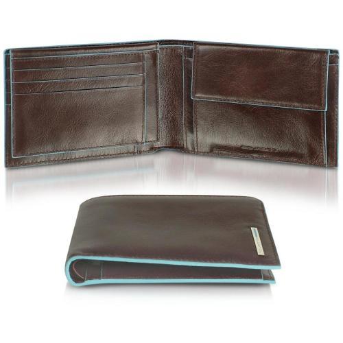 Piquadro Blue Square herrenbrieftasche und Kartenetui aus Leder