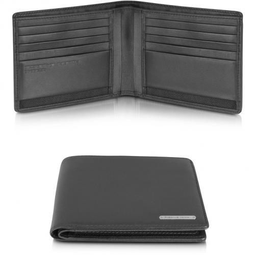 Porsche Design CL 2.0 Portemonnaie aus echtem schwarzem Leder