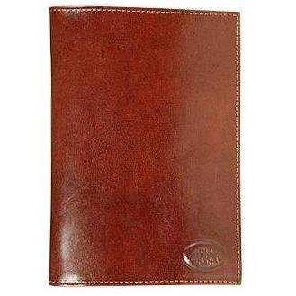 Robe di Firenze Braune Brieftasche aus Leder mit Dokumentenfenster