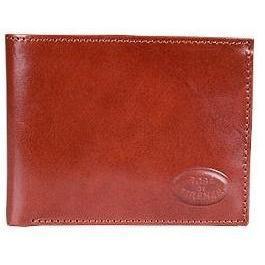 Robe di Firenze Klassische braune Brieftasche aus Leder