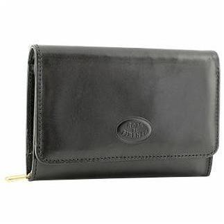 Robe di Firenze Schwarze Brieftasche aus Leder