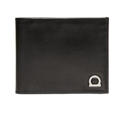 Salvatore Ferragamo Gancio One Brieftasche aus Gebürstetem Leder