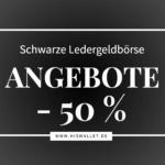 Schwarze Ledergeldbörse SALE
