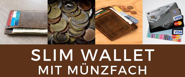 Slim Wallet mit Münzfach
