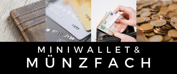 Miniwallet mit Münzfach