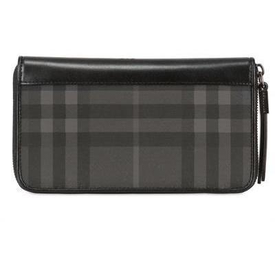 burberry brieftasche mit rei verschluss grau. Black Bedroom Furniture Sets. Home Design Ideas